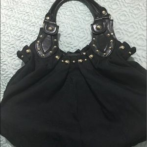 Black denim vintage Gucci handbag
